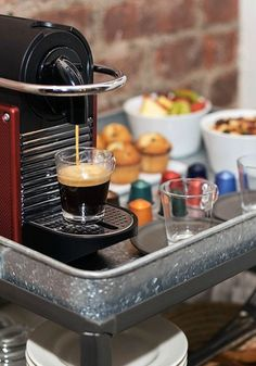 Brunch entertaining on the weekends has never been easier than with the stylish Pixie Carmine machine from Nespresso. Create one-of-a-kind espresso creations for your guests to ensure that each beverage is something they'll love. Coffee Machine, Coffee Maker, Starbucks, Best Espresso Machine, Served Up, Recipe Of The Day, Pixie, Brunch
