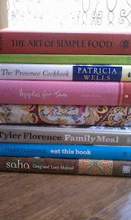 A pile of cookbooks for inspiration on a sunny, Sunday afternoon Kitchen Bookshelf, Tyler Florence, Sunny Sunday, Simple Art, Family Meals, Food Porn, Easy Meals, Inspiration, Biblical Inspiration