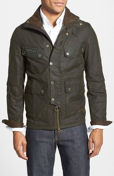 Barbour+'Trail'+Slim+Fit+Waxed+Jacket+available+at+#Nordstrom