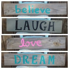 Custom Distressed Wood Signs / Reclaimed Wood Signs on Etsy