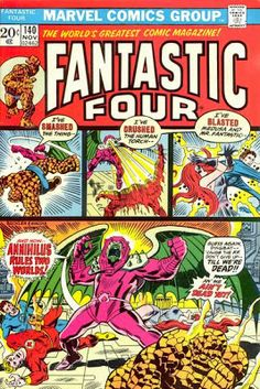Lot Detail - 1973 The Fantastic Four Marvel Comics (Featuring Jim Steranko, Marie Severin, John Buscema and John Romita Cover/Art; Roy Thomas and Gerry Conway Stories) Comic Books For Sale, Marvel Comic Books, Comic Books Art, Book Art, Marvel Art, Marvel Heroes, Fantastic Four Comics, Mister Fantastic, Jack Kirby