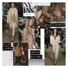 """""""NYFW F/W 2017 Runway Trend Urban Safari"""" by stylepersonal ❤ liked on Polyvore featuring Ralph Lauren and NYFW"""