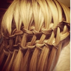 -double waterfall braid.