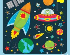 Space Clipart / Planets Clipart / Astronaut Clipart by ClipArtisan