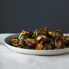 Roasted Brussels Sprouts with Pears and Pistachios Recipe on Food52 recipe on Food52