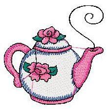 4X4 TeaPot Embroidery Design 059