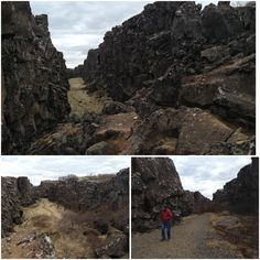 "Iceland. The North American and Eurasian tectonic plates ""Pingvellir"" Allmannagja"