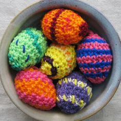 Easter egg ornaments in colorful crochet bright by SnippetFairy, $36.00