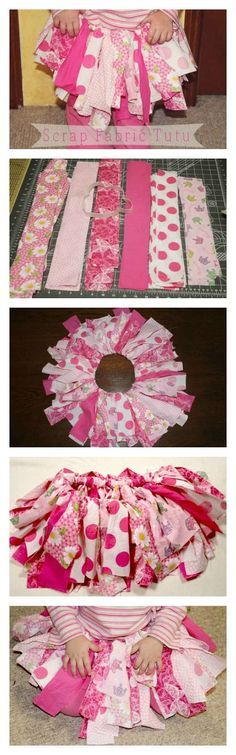Scrap Fabric Tutu Tutorial - easy tutorial for a fantastic homemade gift idea | The Happy Housewife