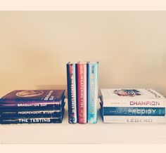 YA Trilogies // The Hunger Games + The Testing + Legend // books