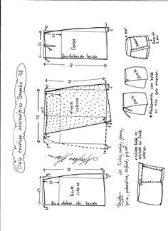Mini saia envelope - DIY - molde, corte e costura - Marlene Mukai // Taika Sewing Dress, Skirt Patterns Sewing, Clothing Patterns, Pattern Skirt, Sewing Clothes Women, Diy Clothes, Fashion Sewing, Diy Fashion, Moda Fashion
