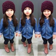 Pin by tieyone hall-andrews on cute kids & cute outfits детс Outfits Niños, Girls Fall Outfits, Little Girl Outfits, Little Girl Fashion, Baby Outfits, Boy Fashion, Junior Outfits, Winter Fashion, Womens Fashion
