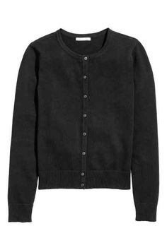 Fine-knit cotton cardigan
