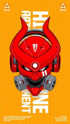 Cyberpunk Character, Cyberpunk Art, Futuristic Samurai, Japanese Warrior, Mascot Design, Samurai Art, Zodiac Art, Gaming Wallpapers, Graphic Design Inspiration