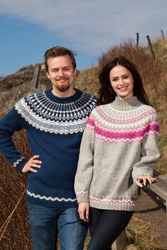 Kaarrokepuserot - Ulrika - Lankamaailma Crochet Woman, Sweater Knitting Patterns, Men Sweater, Turtle Neck, Pullover, Sweaters, Women, Fashion, Tejidos