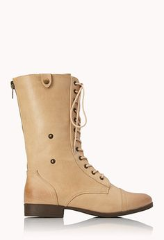 Pretty-Tough Combat Boots | FOREVER21 - 2000072135 (also available in black, with design inside)