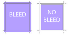 Set up your print artwork with the proper bleed settings