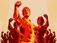 Crowd Protest Fist Revolution Poster by Rahmad Kurniawan Protest Art, Protest Posters, Revolution Poster, Arte Punk, Propaganda Art, Soviet Art, Egyptian Art, Disney Art, Crowd