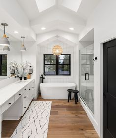 "HomeAdvisor on Instagram: ""When you find the bathroom of your dreams, it's time to call a pro! 😍⁠ ⁠ Click our link in bio to compare local bathroom remodelers near…"" Wood Floor Bathroom, Double Sink Bathroom, Master Bathroom, Luxury Vinyl Flooring, Best Flooring, Bathroom Interior, Modern Bathroom, Bathroom Ideas, Budget Bathroom"