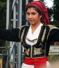 Greek Dancing Girl by mardiR, via Greek Dancing, Girl Dancing, Mykonos, Greek Traditional Dress, Empire Ottoman, Greek Girl, International Clothing, Dance Costumes, Greek Costumes