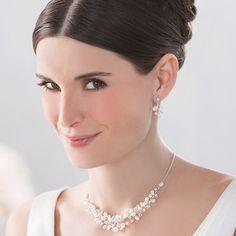 Braut-accessoires Brautschmuck Hochzeit Kette Ohrringe Emmerling Mit Perlen Geschickte Herstellung