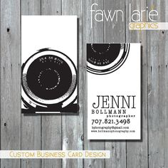 Custom Photography Business Card Template by FawnLarieGraphics, $24.00