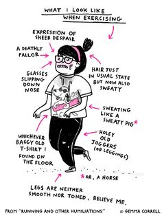 Gemma Correll - Running (What I Look Like When Exercising)