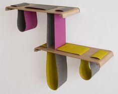 Folding Felt + Floating Wood: Adjustable Wall Shelf System | Designs & Ideas on Dornob