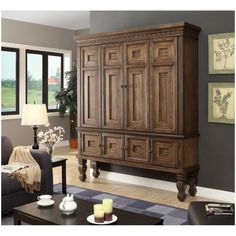 Armoire tv stand best corner stands images on bedroom armoire tv cabinet uk Tv Stand And Entertainment Center, Entertainment Room, Repurposed Furniture, Home Furniture, Country Furniture, Furniture Projects, Painted Furniture, Tv Cabinet Ikea, Armoire Tv