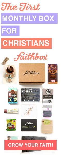 The Original Monthly Box for Christians! Filled with great Christian content and products from companies that make an impact and embody Christian ideals. I should probably this?