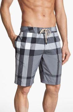 34397f6b46 Burberry Brit Laguna Check Print Board Shorts (Men) available at
