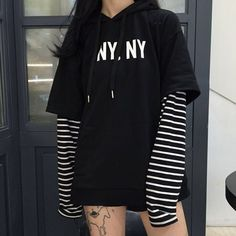 """Color:black.white. Size:one size. Length:70cm/27.30"""". Bust:110cm/42.90"""". Sleeve length:54cm/21.06"""". Shoulder:56cm/21.84"""". Fabric material:cotton. Tips: *Please double check above size and consider you"""