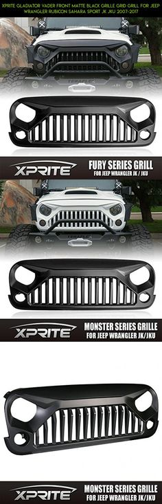 Xprite Gladiator Vader Front Matte Black Grille Grid Grill for Jeep Wrangler Rubicon Sahara Sport JK JKU 2007-2017 #plans #technology #parts #tech #drone #products #racing #shopping #camera #gadgets #kit #jeeps #grills #fpv