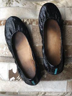 Women s Tieks Ballet Flats Black Leather Sz 11 Has wear 1a757b2598c8
