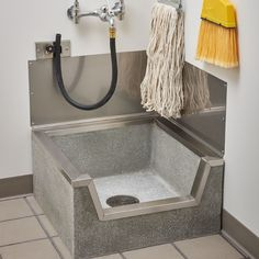 36 x 36 Stockton Terrazzo Mop Basin Outdoor Laundry Rooms, Outdoor Sinks, Modern Laundry Rooms, Mudroom Laundry Room, Laundry Room Design, Terrazzo, Mop Sink, Small Utility Room, Floor Sink