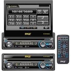 Pyle PLTS78DUB 7-Inch In-Dash Detachable Motorized Touchscreen TFT/LCD Monitor with DVD/CD/MP3/MP4/USB/SD/AM-FM Bluetooth Receiver by Pyle. $153.95. This motorized touch-screen headunit is the ultimate in-car media accessory. First, it's got everything you expect in a modern headunit: AM/FM tuning, 30 station presets, auto-store and scan modes, an LCD digital display. Second, it's equipped with handsfree Bluetooth technology, so you can pair your phone with this unit and hea...