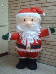 Piñatas~Santa Piñata Christmas Piñata, Christmas Birthday Party, Christmas Crafts, Christmas Decorations, Recycled Crafts, Diy And Crafts, Cardboard Box Diy, Diy Box, Diy Party