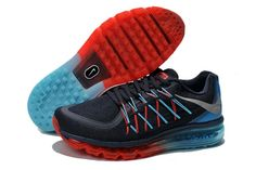 Nike Air Max 2015 Australia Mens Running Shoes Dark Blue Red Jade For Sale