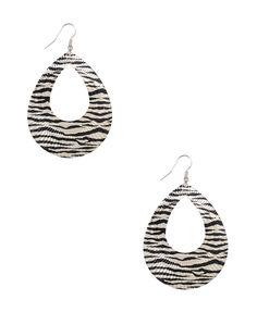 Zebra Teardrop Earrings | FOREVER21 - 1013651241