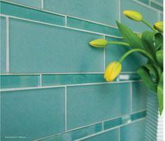 green glass shower tiled   green glass tile   Small Bathroom Remodel