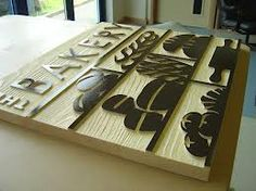 Sandblasted Wooden Signs, Carved Wooden Signs, Laser Engraved Wood - The Grain Router Woodworking, Cnc Router, Wooden Crafts, Wooden Diy, Wooden Signage, Bakery Sign, Craft Stalls, Cnc Projects, Point Of Sale