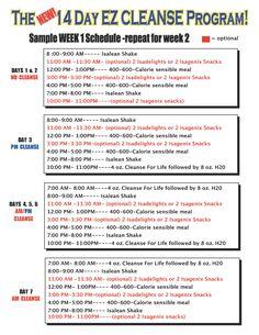 Isagenix 14 Day Cleanse - Sample Schedule