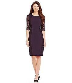 Antonio Melani Playing Favorites Ivy Lace Overlay Dress #Dillards