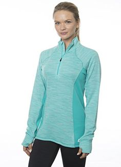 Women's Athletic Hoodies - RBX Active Womens Striated Fleece Back 14 Zip Pullover >>> You can get more details by clicking on the image.