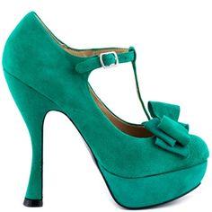 Bella - Emerald high heels