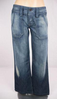DIESEL New Jeans Size 25 S Distressed Hipper Boyfriend Slouch L 32 NWT #DIESEL #Boyfriend
