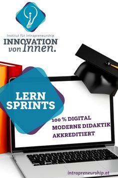"""Mit unseren LernSprints """"Intrapreneurship"""" und """"Digitalisierung"""" rüsten Sie Mitarbeiter für eine innovative und digitalisierte Zukunft Ihres Unternehmens! Spezialisiertes digitales Wissen einerseits und praktische Umsetzungskompetenz andererseits! Innovation, Future, Things To Do"""