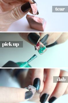 DIY Ombre Nails. Awesome to know, going to be trying this out tomorrow :)