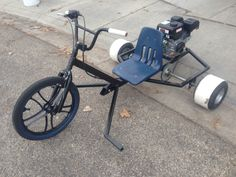 Drift trike prototype. Completed and painted.