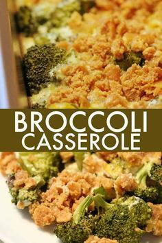 Broccoli Casserole - Delicious recipe for Broccoli Casserole made with cream of mushroom soup, Ritz crackers and loads of cheddar cheese. Delicious recipe for Broccoli Casserole made with cream of mushroom soup, Ritz crackers and loads of cheddar cheese. Mushroom Casserole, Mushroom Soup Recipes, Vegetable Casserole, Brocoli Casserole Recipes, Mushroom Sauce, Recipe With Cream Of Mushroom Soup, Broccoli Cauliflower Casserole, Broccoli Cheese Bake, Ritz Cracker Broccoli Casserole